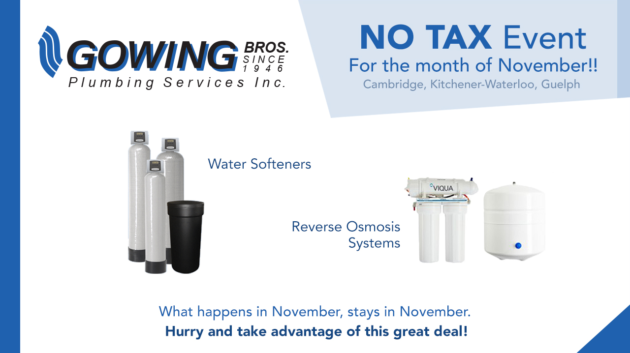 November Special on Water Softeners and RO Systems